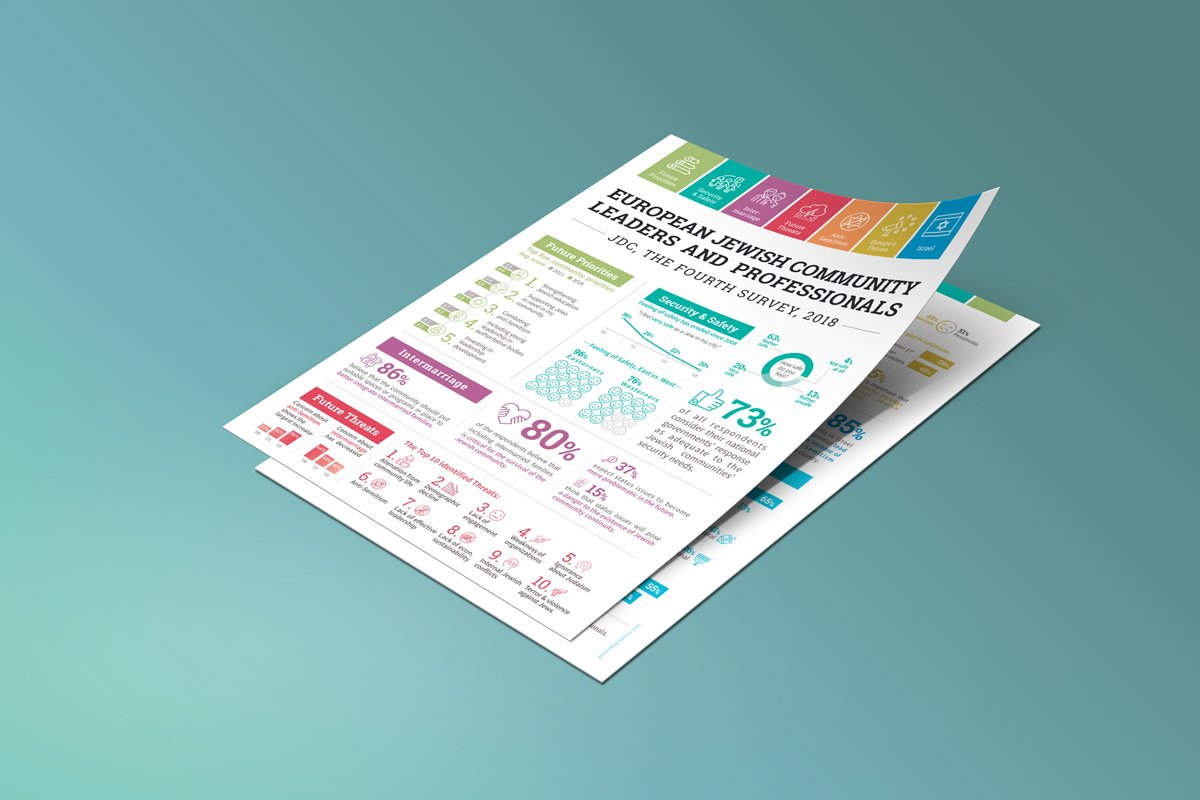 Survey Infographic document design