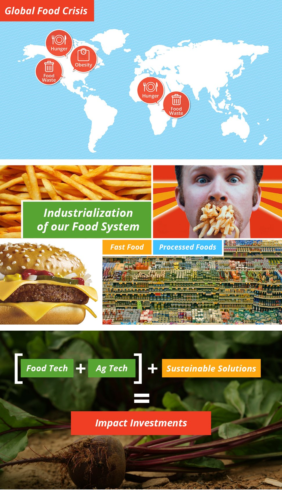 Infographic presentation Project page Agri tech